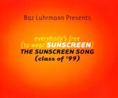 Baz Luhrmann & Lee Perry Everybody's Free (To Wear Sunscreen) album cover