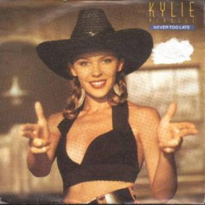 Kylie Minogue Never Too Late album cover